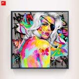 Cheveux Blancs colorés One-Eye femme décoration murale