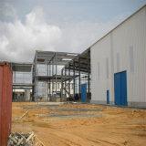 Costruzione prefabbricata della struttura d'acciaio di architettura moderna con la L figura