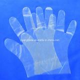Los alimentos el uso de guantes de plástico desechables en HDPE, LDPE