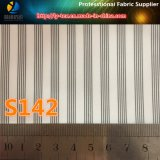 女性の衣服(S142.143)のためのオレンジライン高品質のポリエステルによって編まれる縞ファブリック