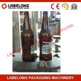 3 automáticos en máquina de rellenar en botella 1 vidrio de la cerveza