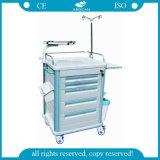 Fünf Fächer ABS Emergency Krankenhaus-Systemabsturz-Karren-medizinische Laufkatze (AG-ET005B1)