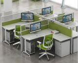 Het Kantoormeubilair van het Werkstation van het Personeel van de Cluster van de Muur van de Verdeling van het Glas van het aluminium (Hx-6M201)