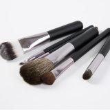 Nueva manija Negro 6PCS etiqueta privada pincel de maquillaje para el recorrido