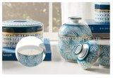 Candela della decorazione di stile cinese, candela della cera nel supporto della ceramica