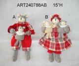 Genitori del mouse di natale che trasportano il regalo Crafts-2asst. della decorazione di festa dei bambini