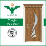 Nuevo diseño 2017 la mayoría del interior de madera económico popular de la puerta del MDF de la puerta del PVC exterior para el hogar