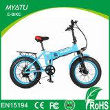 Bici elettrica di nuova del Ce piegatura grassa approvata della gomma mini con la batteria nascosta