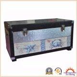 Accent 6 Hoja de Aluminio Lino copetudo cajón de madera de impresión en el pecho