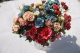 결혼식 홈 훈장 부속품을%s 실크 인공적인 로즈 꽃 가짜 꽃