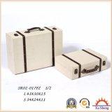 Estante para libros antiguo de madera del rectángulo de regalo del rectángulo de almacenaje de la maleta