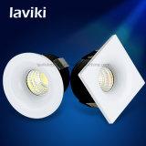 Quadratisches rundes vertieftes PFEILER LED Minipunkt-Licht mit 3W für Schrank, Schaukasten, Schmucksache-Speicher