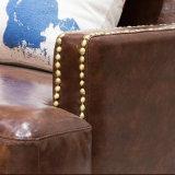 Amerikanische Art-modernes echtes Leder-Sofa für Hauptmöbel (AS849)
