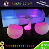 색깔 변화 놀에 의하여 조명되는 재충전용 LED Apple 소파 의자