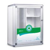 Gabinete de medicina do metal para o armazenamento dos primeiros socorros com porta de vidro