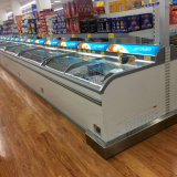 島のフリーザーのスーパーマーケットの組合せの表示フリーザーの箱のタイプフリーザー