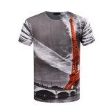 La maglietta su ordinazione 100% di stampa di sublimazione 3D del poliestere dell'OEM con Tuffare-Tinge
