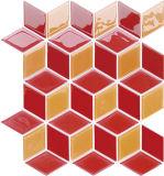 빨간 장식적인 디자인 건축재료 수영풀 수정같은 유리 모자이크