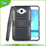 Samsung J7 2016年のための1つのリングのKickstandの電話箱カバーに付き頑丈なプラスチックTPU 3つ