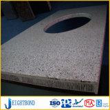 Panneau en aluminium de marbre en pierre léger de nid d'abeilles pour des partie supérieure du comptoir de cuisine