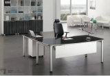 Самомоднейшая черная 0Nисполнительный офисная мебель стола с рамкой металла