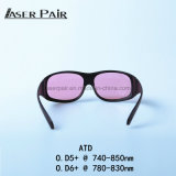 En 207 do Ce dos óculos de proteção do laser de vidros da segurança do laser da manufatura de China para a remoção do cabelo do laser do Alexandrite, laser do diodo 808nm, laser do Alexandrite 755nm