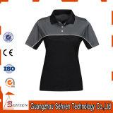 Volume em branco das camisas das mulheres T da tela do polo do poliéster da alta qualidade