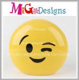 Cerámica personalizada Emoji patrón dinero Guardar Hucha