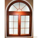 Estilo europeo de madera Casement Windows de cristal, Orientación / exterior / vertical con bisagras abierto