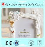 装飾の樹脂の写真フレームのためのカスタム樹脂の白い花の額縁