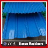 機械を形作る鋼鉄二重層の屋根シートのパネルロールを着色しなさい