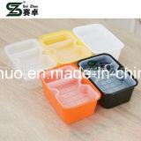 950ml ispessiscono contenitore di alimento di plastica a gettare nero/bianco con il cassetto interno