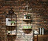 Retro decorazione della gabbia di uccello dell'orologio di parete del metallo per i Pubs