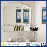Revêtement argenté non encadrés biseauté miroir carré dans un format personnalisé