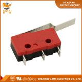 Commutateur micro miniature terminal longtemps déplié de soudure de levier de Lema Kw12-93 5A