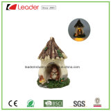 De decoratieve Miniatuur van de Tuin van de Fee van de Paddestoel Polyresin met ZonneLicht voor Huis en Tuin Decoraiton