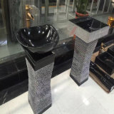 Bassins de la Chine Nero Marquina/bassins/lavabos Polished de marbre
