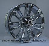 Оправа 24X10 колеса алюминиевого сплава тележки Gmc отделки крома