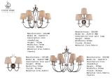 Illuminazione Pendant del ferro di alta qualità con lo schermo del tessuto (SL2016-6+6N)