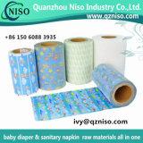 El pañal de las materias primas del pañal del bebé sujeta con cinta adhesiva la cinta frontal para la cinta frontal mágica del pañal