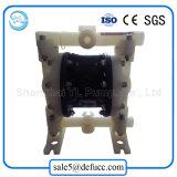 Bomba de diafragma dobro pneumática pequena material de PVDF