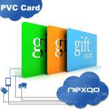 Cartão plástico geado do presente do PVC do revestimento da listra magnética do Loco de Hico do baixo custo