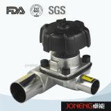 Edelstahl-gesundheitliches 3 Möglichkeit manuelles Diaphrgam Ventil (JN-DV1007)