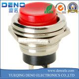 12V interruttore di pulsante momentaneo rotondo verde illuminato indicatore luminoso di CC LED