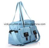 Solo bolso del pañal del organizador del bebé del hombro de la capacidad grande de múltiples funciones (CY3635)