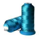 Hilo de coser de la materia textil del bordado del poliester de la Alto-Tenacidad de China