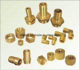 Encaixe de tubulação de bronze do adaptador da farpa da mangueira (1/4*3/8)