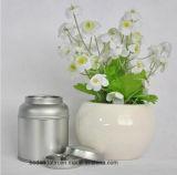 Encargo de plata hermético pequeñas y redondas de embalaje caja de la lata con tapa interior sin imprimir