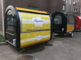 Carros móveis ao ar livre do alimento