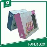 プラスチックハンドル(010を詰める森林)が付いているカスタムペーパーギフト用の箱